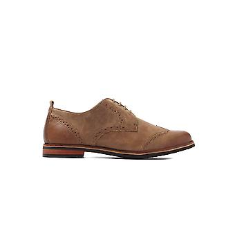 Women's Brogues - Cognac Antic Leather