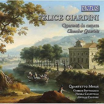 Giardini / Quartetto Mirus - Felicve Giardini: kammer kvartetter [CD] USA import
