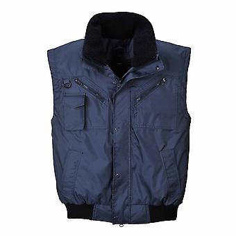 Portwest - 3 en 1 chaqueta de bombardero de ropa de trabajo impermeable con capucha