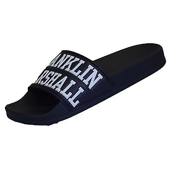 Franklin & Marshall Ua980 Navy Sliders