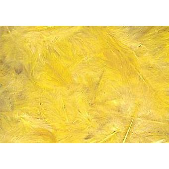 5g Yellow Fluffy Craft Feathers | Scrapbooking Card Making Embellishments
