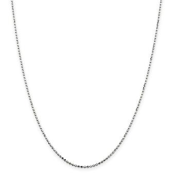 Sterling Silver Polished 1.5mm Beaded Pendant Chain - Spring Ring - Length: 16 to 24