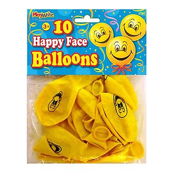24 Bags of 10 Happy Face Balloons