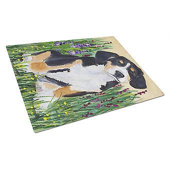 Carolines Treasures  SS8216LCB Entlebucher Mountain Dog Glass Cutting Board Larg