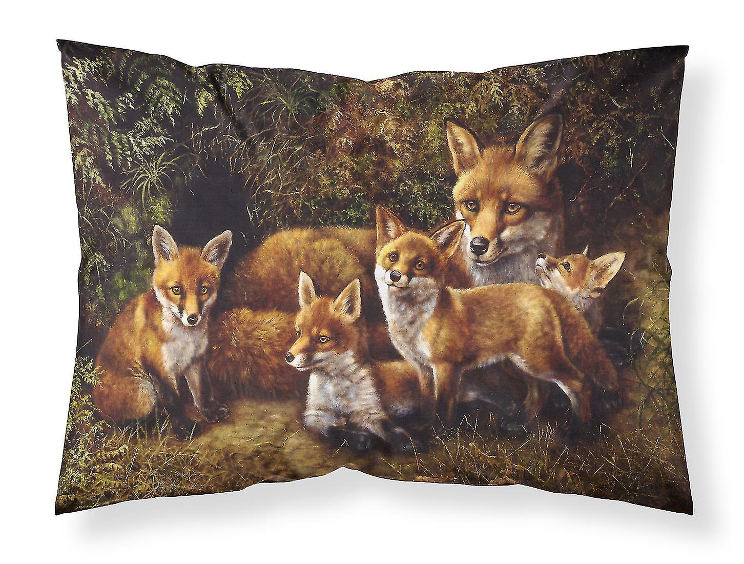 Renards Tissu Fox Famille Par Daphne Baxter Standard Taie D'oreiller TK3Jl1Fc