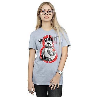 Star Wars Women's The Last Jedi BB-8 Roll With It Boyfriend Fit T-Shirt