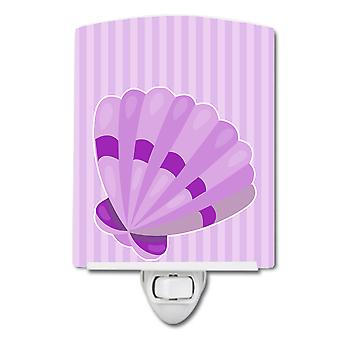 Carolines Treasures  BB8843CNL Beach Scallop Shell #2 Ceramic Night Light
