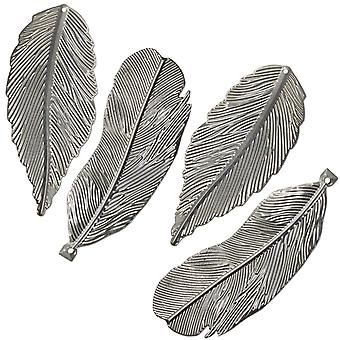 Salvaged Feathers 4/Pkg-  T4FEATH