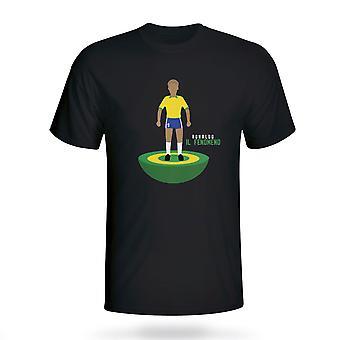 Ronaldo Brésil Subbuteo Tee (noir)