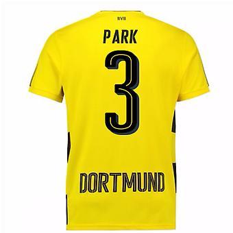 2017-18 Borussia Dortmund Home Short Sleeve Shirt (Park 3)