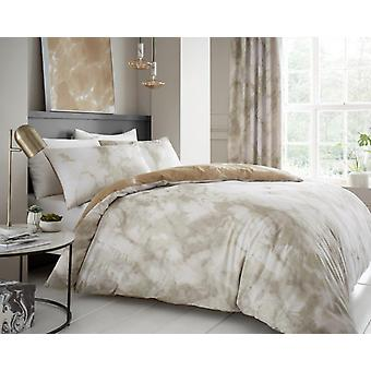 Marbel Effekt Bettdecke Steppdecke Cover Polycotton gedruckt Bettwäsche Set