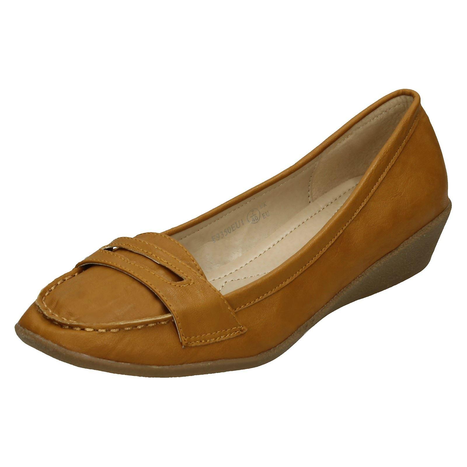 Womens Fleck auf Mokassin Schuhe