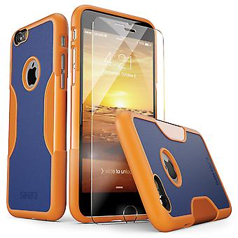 SaharaCase® iPhone 6/6s ardiente sol naranja caso, clásico paquete Kit de protección con vidrio templado de ZeroDamage®