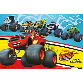 Nickelodeon Blaze and the Monster Machines Poster Print