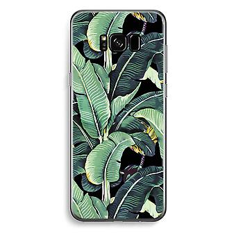 Samsung Galaxy S8 Plus Transparent Case (Soft) - Banana leaves