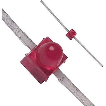 LED wired Red Circular 1.9 mm 10 mcd 90