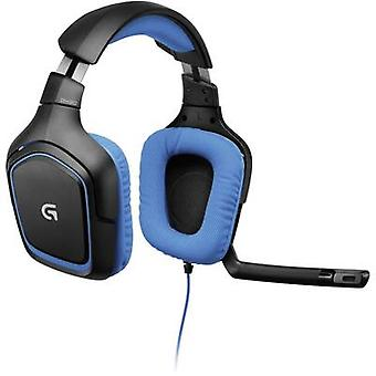 Gaming headset 3.5 mm jack Corded Logitech Gaming G430 Over-the-ear Black, Blue