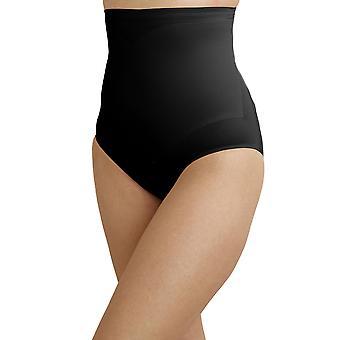 Cupid 2175-E Women's Black Solid Colour Firm/Medium Control Slimming Shaping High Waist Brief