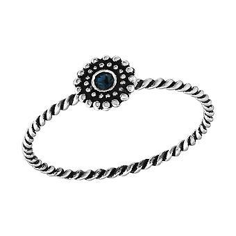 Flower - 925 Sterling Silver Jewelled Rings - W33758X