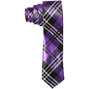 Cravatta in raso sottile - strisce neri / viola