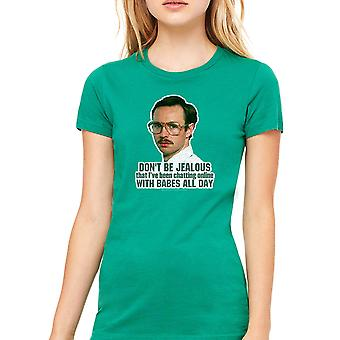 Napoleon Dynamite Babes All Day Women's Kelly Green Funny T-shirt