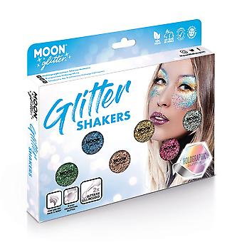 Holographic Glitter Shakers by Moon Glitter – 100% Cosmetic Glitter for Face, Body, Nails, Hair and Lips - 5g - Boxset