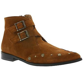 Heine refined rivet ankle boot boots women Brown