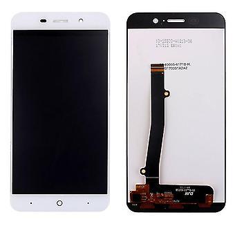 Visa full LCD enhet touch reservdelar för ZTE blade A602 reparation vit ny