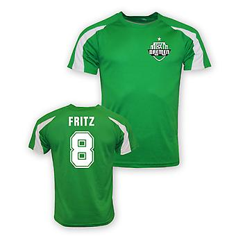 Clemens Fritz Werder Bremen Sports Training Jersey (green)