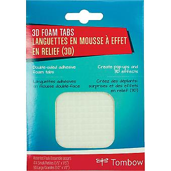Craft Collection 3D Foam Tabs Assorted Pack-414 Small .2
