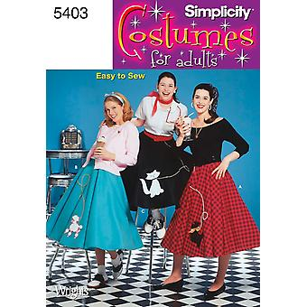 Simplicity Misses' Poodle Skirts-14,16,18,20,22