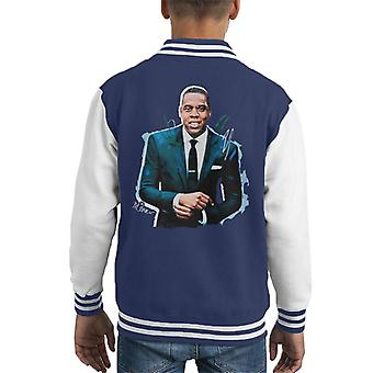 Sidney Maurer Original Portrait Of Jay Z Suit Kid's Varsity Jacket