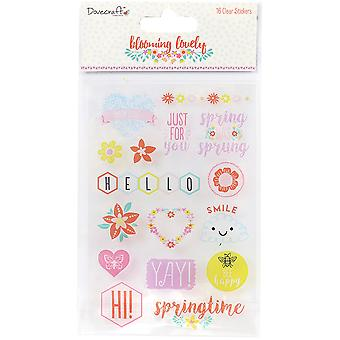 Dovecraft Blooming Lovely Clear Stickers-