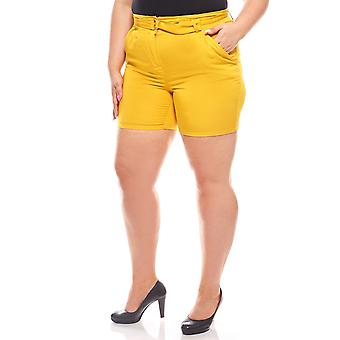 Summer shorts plus size ladies yellow SOAKED IN LUXURY