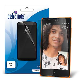 Celicious Vivid Invisible Glossy HD Screen Protector Film Compatible with Nokia XL [Pack of 2]