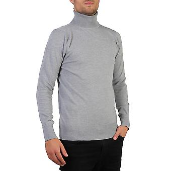 KRISP mens Polo Turtle roll Neck jumper bomull stickat tröja vinter pullover topp