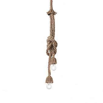 Ideal Lux Canapa 2 Bulb Vintage Sailor Style Ceiling Rope Light