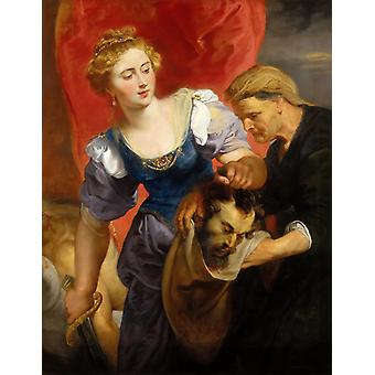 Judith with the Head of Holofernes, Peter Paul Rubens, 50x40cm