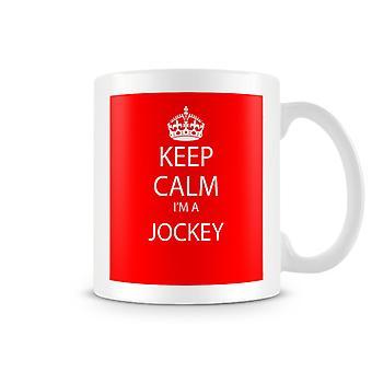 Keep Calm je suis un Mug imprimé Jockey