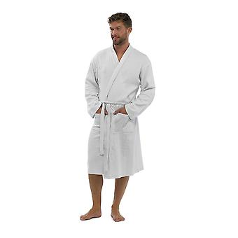 Foxbury Mens Waffle Design Cotton Bathrobe Dressing Gown