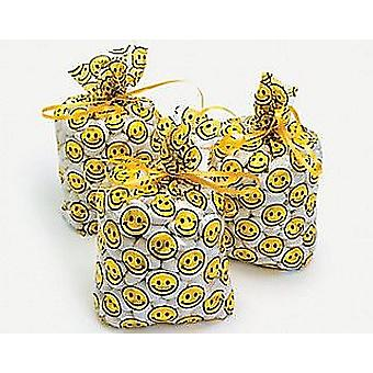SALE -  12 Cellophane Smiley Face Party Bags | Kids Party Loot Bags