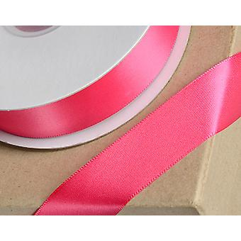 15mm Fuchsia Pink Satin Ribbon for Crafts - 25m   Ribbons & Bows for Crafts
