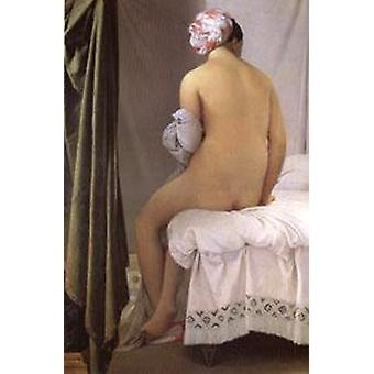 The Valpincon Bather, of Jean Auguste Dominique Ingres, 40x60cm with tray