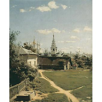 Moscow Yard,Vasilii Dmitrievich Polenov,50x40cm