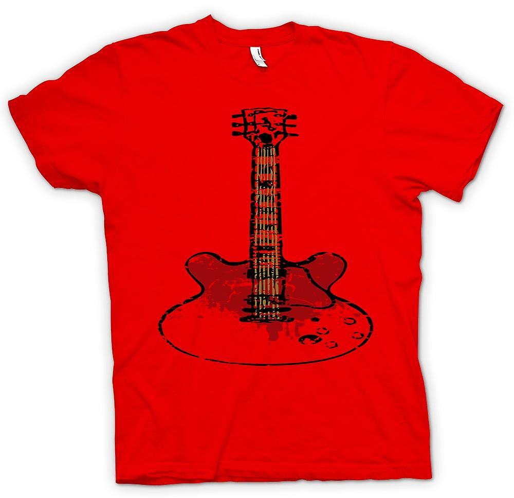 Hombres camiseta-Gibson SG guitarra Rock Blues música