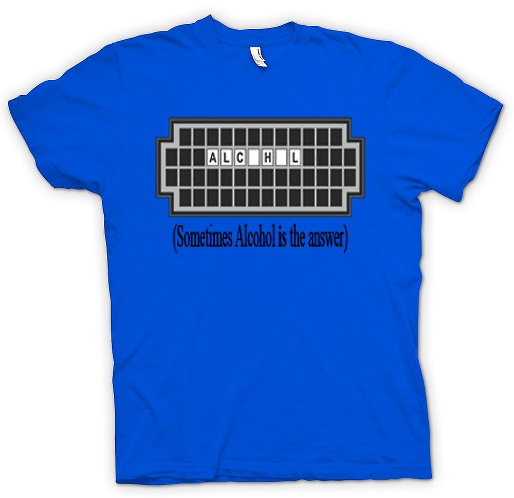 Camiseta para hombre - a veces el Alcohol es la respuesta - cotización