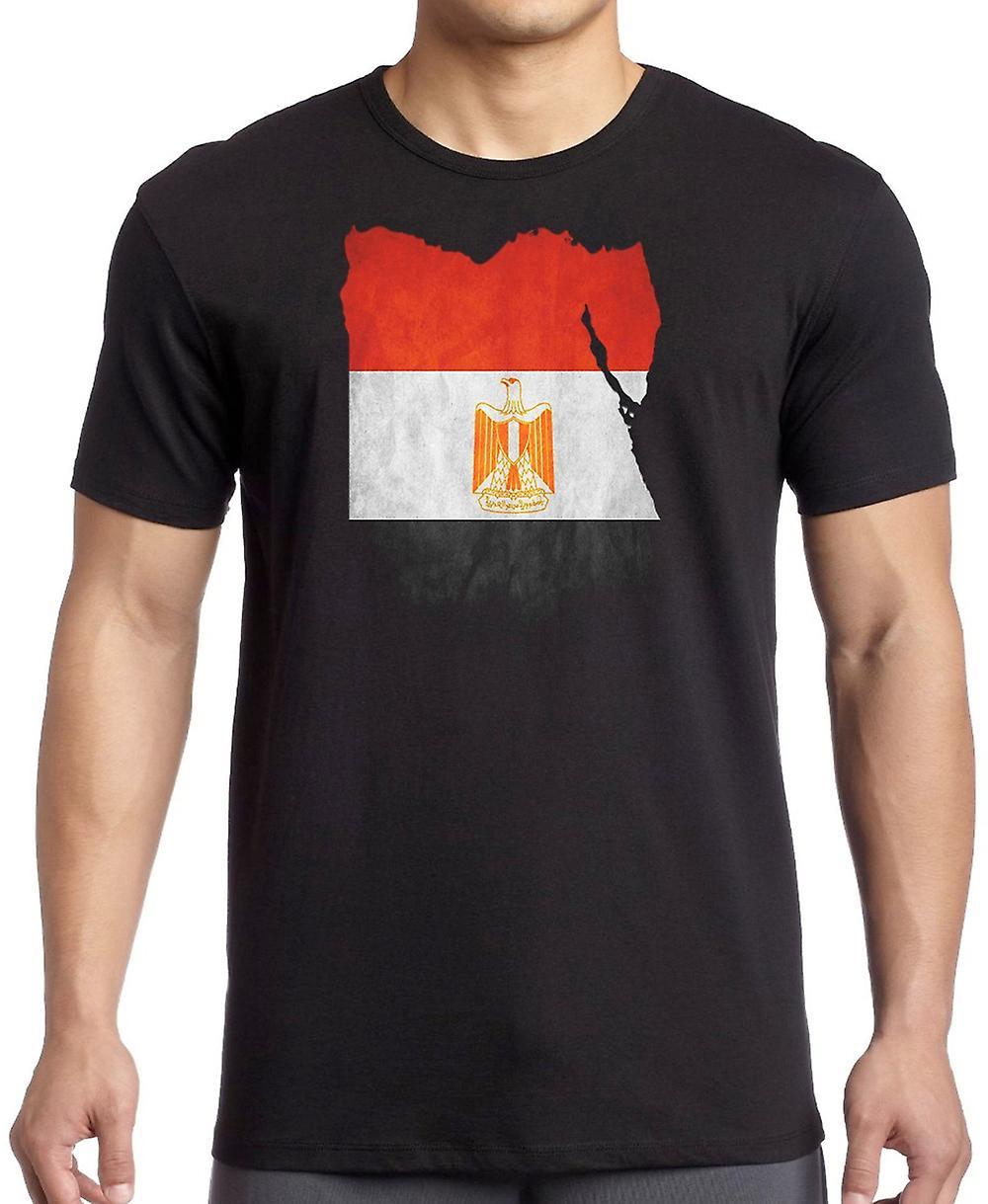 Egypt Egyptian Flag Map Kids T Shirt