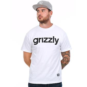 Grizzly White Lowercase Logo T-Shirt