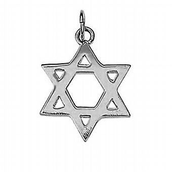 Sterling silver Star of David plain pendant