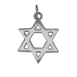 Silver 18mm Star of David plain pendant